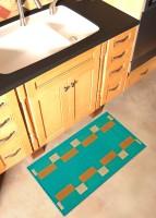 Status Polypropylene Large Bath Mat Floor Mat Set Of 2pcs Green