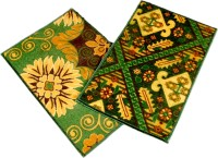 Ritika Carpets Velvet Medium Door Mat Door Mat Set Of 2 Green, 2 Mat - MATEBVP7TMYDZTZU