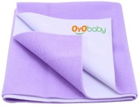 Oyo Baby Cotton Extra Large Changing Mat Baby Care Sheet (Purple, 1 Mat)