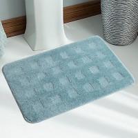 Saral Home Microfiber Large Bath Mat Premium Quality Soft Micro Polyester Bathmat Set Of 2Pc -40X60 Cm -2Pc Blue, 2Pc Bath Mat