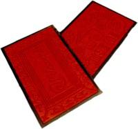 Ritika Carpets Velvet Medium Door Mat Door Mat Set Of 2 Red, 2 Mat - MATEBVP7TUNMXYF8