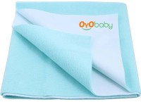 Oyo Baby Cotton Small Changing Mat Baby Care Sheet (Blue, 1 Mat)