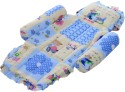 Littles Compact Baby Bed - Honey Bear Print - Blue