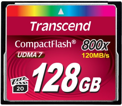 Transcend 128 GB Compact Flash  Memory Card