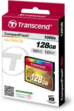 Transcend Compact Flash 128 GB 1000X