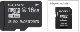 Sony 16GB SR-16A4/T1 MicroSD Memory Card