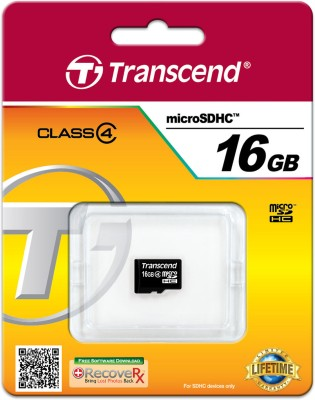 Transcend MicroSD 16GB Class 4 Memory Card