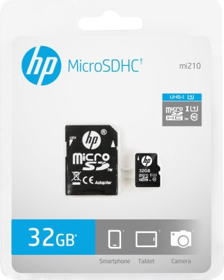 HP 32GB MicroSDHC Class 10 (40MB/s) Memory Card (With Adapter)