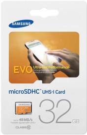 Samsung Evo 32 GB MicroSD Card UHS Class 1 48 MB/s  Memory Card