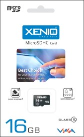 Xenio 16GB Class 10 MicroSDHC Memory Card