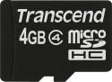 Transcend 4 GB MicroSD Card Class 4 Memory Card: Memory Card