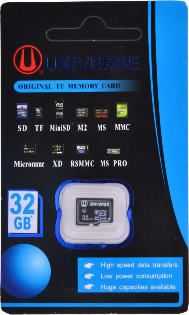 Universe Ultra 32 GB MicroSD Card Class 4 90 MBs  Memory Card