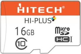 Hitech Hi-Plus 16GB MicroSDHC 48 Mb/S (Class 10) Memory Card