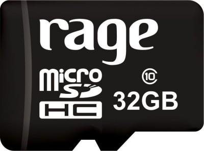Rage 32GB Class 10 MicroSDHC Memory Card