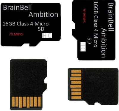 BrainBell Micro 16 GB MicroSDHC Class 4 70 MB/s  Memory Card