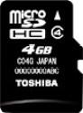 Toshiba Memory Card 4 GB MicroSDHC: Memory Card