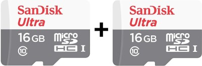 SanDisk Ultra 16 GB MicroSDHC Class 10 48 MB/S Memory Card low price