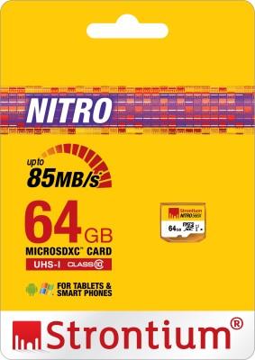 Strontium Nitro 566X 64GB MicroSDXC Class 10 (85MB/s) Memory Card