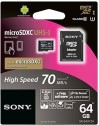 Sony MicroSDXC 64 GB Class 10 SR-64UY2A Memory Card With Adapter