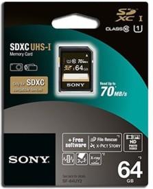 Sony SF-64UY2 64GB SDXC UHS-I 70MB/s Class 10 Memory Card