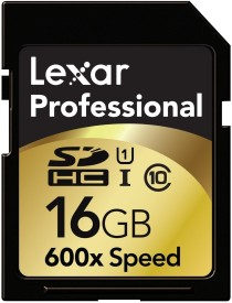 Lexar 16 GB Professional 600X SDHC C10 Memory Card