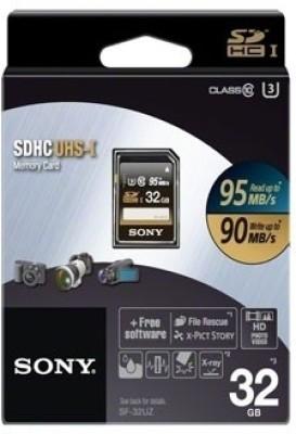 Sony SF-32UZ 32GB SDHC MB/s UHS-I Class 10 Memory Card