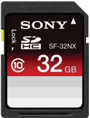 Sony SDHC 32  GB Class 10 available at Flipkart for Rs.6465