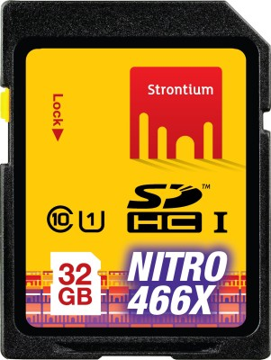 Strontium Nitro 466x SDHC 32GB Class 10 Memory Card