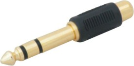 Krown 6.3mm (P-38) Stereo Male To Rca Female Connector - Pack Of 3 Converter
