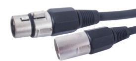 Krown 3 Pin Mic Male To 3 Pin Mic Female Xlr Cable - 5 Mtr Cable