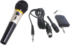 Krown Unique 2 in 1 Wired / Wireless Mic with Built-in Echo Microphone