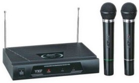 Medha Professional Vhf Series 2 In 1 Dual Wireless / Cordless Mic Microphone