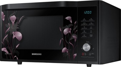 Samsung MC32J7055VB/TL 32 L Convection Microwave Oven (Black with Lily Pattern)