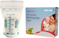 Spectra Baby USA Disposable Presterilized Breast Milk Bags (Pack Of 30, Transparent)