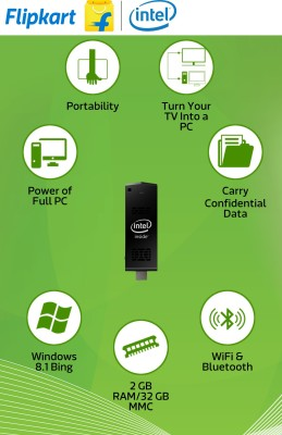 Intel (STCK1A32WFC) Ultra-Slim Windows 8.1(1.33 GHz, 2 GB Ram, 32GB) Desktop