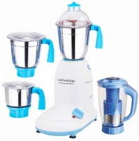 Celebration Celeb 600 Crystal 600 W Mixer Grinder (White, 4 Jars)
