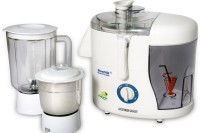 Silverline Kitchen Master 600 W Juicer Mixer Grinder (White, 2 Jars)