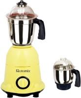 Rotomix Roto 600 ArwaYellow 600 W Mixer Grinder (Yellow, 2 Jars)