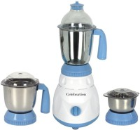 Celebration Celeb 600 MrfOuter 600 W Mixer Grinder (Blue, White, 3 Jars)