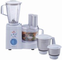 Bajaj Master Chef Food Processor 600 W Juicer Mixer Grinder (White, 4 Jars)