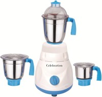 Celebration Celeb 600 Mrfwhite 600 W Mixer Grinder (White, 3 Jars)