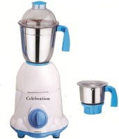 Celebration Celeb 600 ArwaWhite 600 W Mixer Grinder (White, 2 Jars)