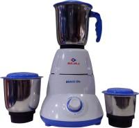 Bajaj Bravo Dlx 500 W Mixer Grinder (White, Blue, 3 Jars)