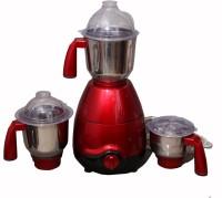 Vareto Diamond 650 W Mixer Grinder (Metallic Red, 3 Jars)