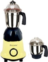 Rotomix Roto 600 ArwaYellowBlack 600 W Mixer Grinder (Yellow, 2 Jars)