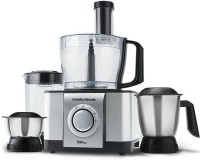 Morphy Richards Icon DLX Food Processor 1000 W Juicer Mixer Grinder (Steel Black, 4 Jars)