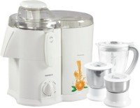 Havells Endura With Fruit Filter 500 W Juicer Mixer Grinder (Opal White, 3 Jars)