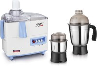 Padmini Essentia DELMERD 450 W Juicer Mixer Grinder (White & Blue, 2 Jars)