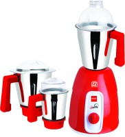 Cello Sunny 550 W Mixer Grinder (Red, 3 Jars)