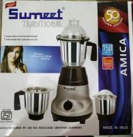 Sumeet Amica 750 W Mixer Grinder (Grey, Black, 3 Jars)